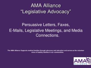 "AMA Alliance  ""Legislative Advocacy"""