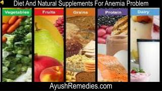 Diet And Natural Supplements For Anemia Problem