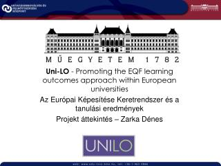 Uni-LO  - Promoting the EQF learning outcomes approach within European universities