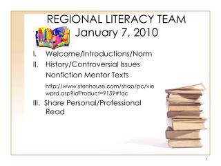 REGIONAL LITERACY TEAM January 7, 2010