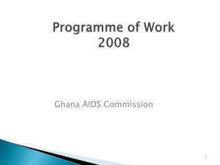 Programme  of Work  2008