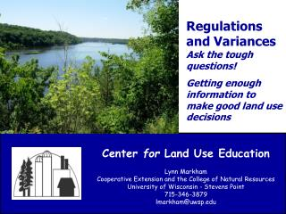 Regulations and Variances             Ask the tough questions!