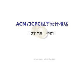 ACM/ICPC 程序设计概述