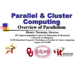 Parallel  Cluster Computing Overview of Parallelism