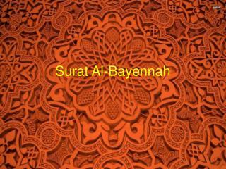 Surat Al-Bayennah