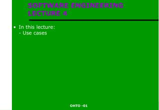 SOFTWARE ENGINEERING  LECTURE 4
