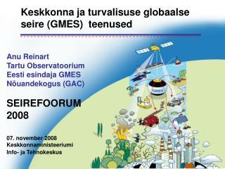 Keskkonna ja turvalisuse globaalse seire (GMES)  teenused
