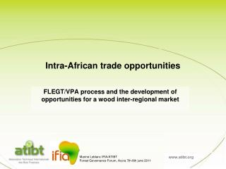 Intra-African trade opportunities
