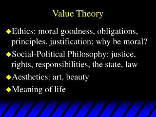 Value Theory