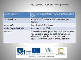 VY_32_INOVACE_Dj.6.02-Pravěk-prezentace