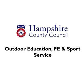 Outdoor Education, PE & Sport Service