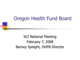 Oregon Health Fund Board