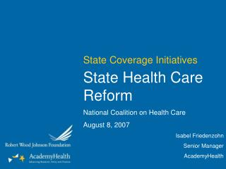 State Coverage Initiatives