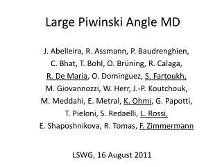 Large  Piwinski  Angle MD