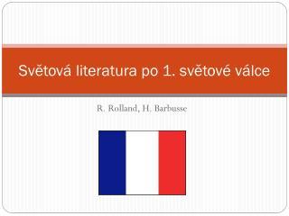 Světová literatura po 1. světové válce