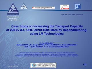 Case Study on Increasing the Transport Capacity