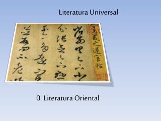 0. Literatura Oriental