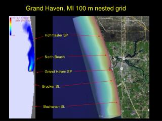 Grand Haven, MI 100 m nested grid