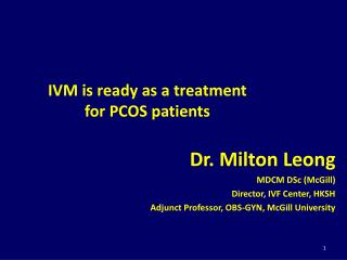 IVM is ready as a treatment  for PCOS patients