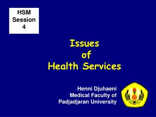 Issues  of  Health Services