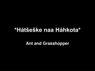 *Hátšeške naa Háhkota*