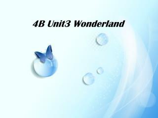 4B Unit3 Wonderland