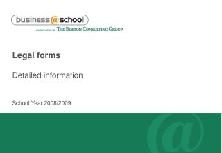 Legal forms Detailed information