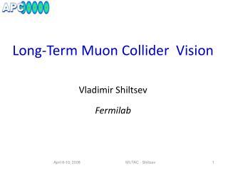 Long-Term  Muon  Collider  Vision Vladimir  Shiltsev Fermilab