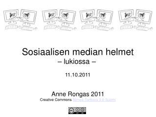 Sosiaalisen median helmet – lukiossa –