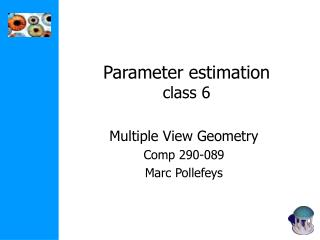Parameter estimation class 6