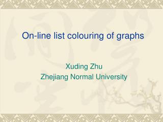 On-line list colouring of graphs