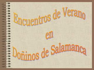 Encuentros de Verano en Doñinos de Salamanca