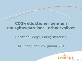 CO2-reduktioner gennem energibesparelser i erhvervslivet