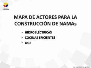 MAPA DE ACTORES PARA LA CONSTRUCCIÓN DE NAMAs