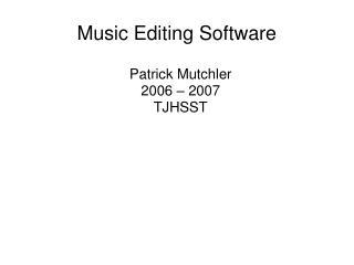 Music Editing Software