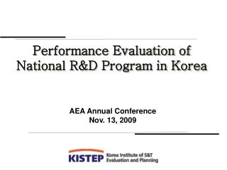 Performance Evaluation of National R&D Program in Korea