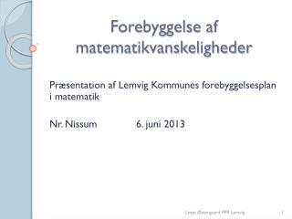 Forebyggelse af matematikvanskeligheder
