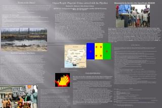 Ogoni People (Nigeria): Crime arrived with the Pipeline Rashard L. Rabsatt, Gettysburg College,