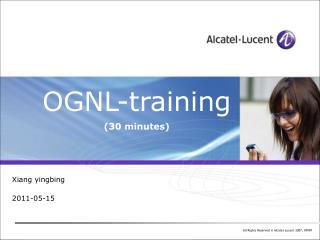 OGNL-training (30 minutes)