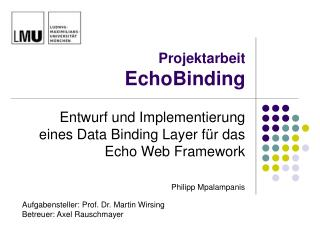 Projektarbeit EchoBinding