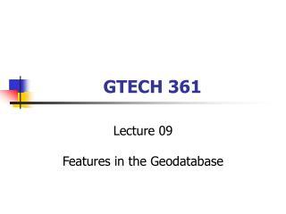 GTECH 361