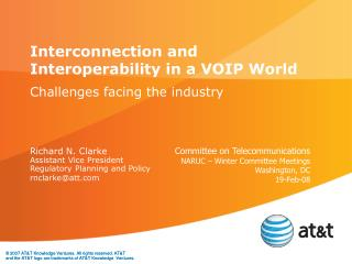 Interconnection and Interoperability in a VOIP World