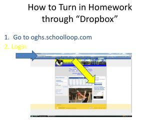 "How to Turn in Homework through "" Dropbox """
