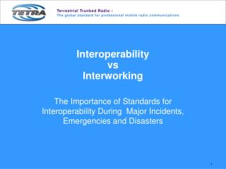 Interoperability  vs Interworking