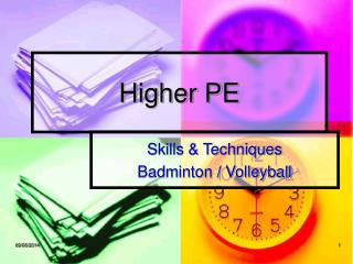 Higher PE