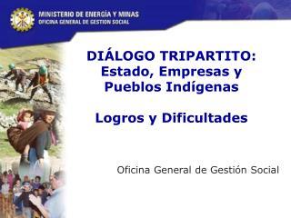 DIÁLOGO TRIPARTITO: Estado, Empresas y Pueblos Indígenas   Logros y Dificultades