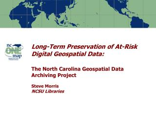 Risks to Digital Geospatial Data