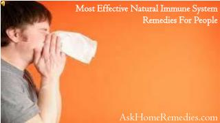 Most Effective Natural Immune System Remedies For People