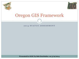 Oregon GIS Framework