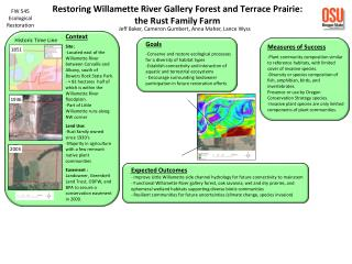 Restoring Willamette River Gallery Forest and Terrace Prairie:   the Rust Family Farm
